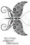 Floral Wings Clear Woodware Stamp (JGS626)